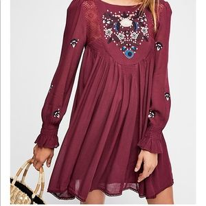 Free people Moya Embroidered Dress